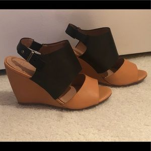 Joie leather wedges